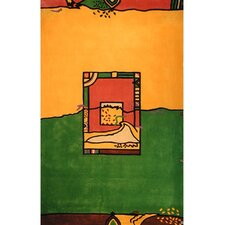 Bright Yellow/Green Fields Area Rug