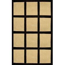 Bright Sand/Black Window Blocks Area Rug