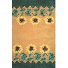 Bright Sunflower Area Rug
