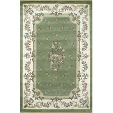Floral Garden Aubusson Sage/Ivory Area Rug