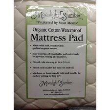 """Organic Cotton Waterproof 6"""" Crib Mattress Pad"""