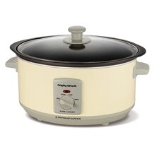 3.5L Slow Cooker in Cream / Black