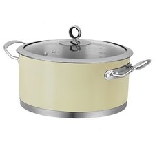 24cm Stainless Steel Casserole with Lid