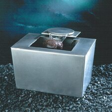 Saa-Deh Stainles Steel Rectangle Tabletop Fountain