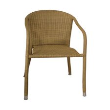 Terrace Mates Wicker Stacking Dining Arm Chairs (Set of 2)
