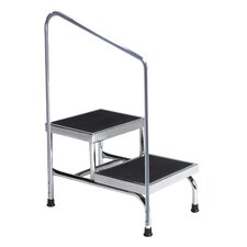 2-Step Heavy Duty Step Stool with 600 lb. Load Capacity