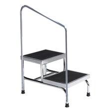 2-Step Heavy Duty Step Stool with 600 lb. Load Capacity