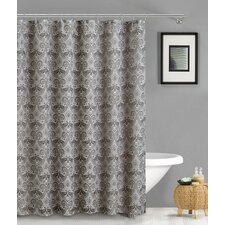 French Riviera Linen Look Shower Curtain