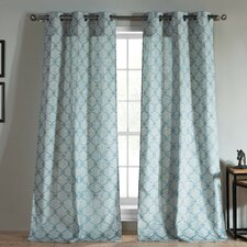 Kenilworth Jacquard Grommet Curtain Panel (Set of 2)