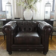 Estate Top Grain Leather Standard Arm Chair