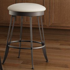 """Library Luxe Style 26"""" Swivel Bar Stool with Cushion"""