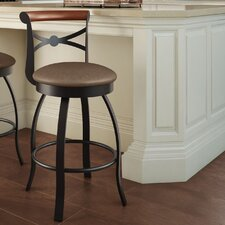 "Library Luxe Style 25.75"" Swivel Bar Stool with Cushion"