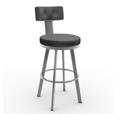 "Tower 26.25"" Swivel Bar Stool with Cushion"