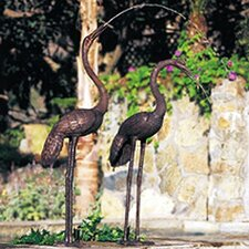 Birds Crane Pair Statuary (Non-Fountain)