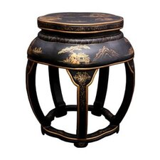 Asian Lacquer Blossom Stool