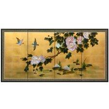 Lilly Pad Pond on Gold Leaf Framed Original Painting