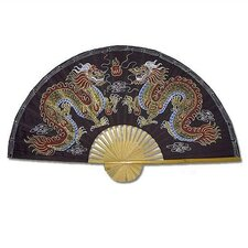 Chinese Dragons Oriental Fan Wall Décor