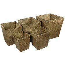 Hand Woven Storage Bin (Set of 5)