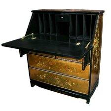 Chinese Gold Leaf Secretary Desk