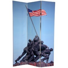 """72"""" x 48"""" Double Sided Memorial 3 Panel Room Divider"""
