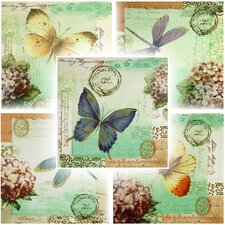 Dragonfly and Butterfly 5 Piece Graphic Art on Wrapped Canvas Set