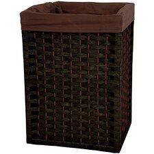"""17"""" Natural Fiber Basket in Black"""