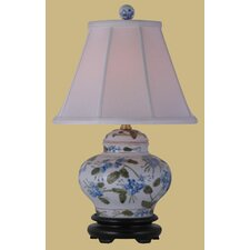 """Porcelain Jar 15"""" H Table Lamp with Empire Shade"""