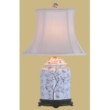 """Porcelain Scallops 22"""" H Table Lamp with Bell Shade"""