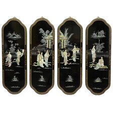 4 Piece Ladies Curved Wall Décor Set