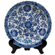 Floral Decorative Plate in Blue & White