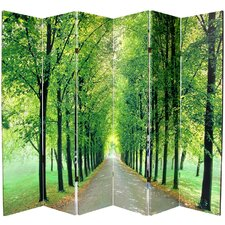 "70.88"" x 94"" Path of Life 6 Panel Room Divider"