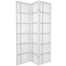 "70"" x 42"" Double Cross Shoji 3 Panel Room Divider"