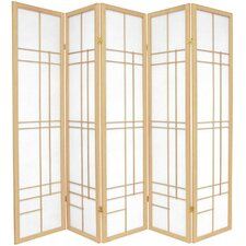 "70.25"" x 70"" Eudes Shoji 5 Panel Room Divider"