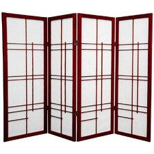 "48"" x 57"" Eudes Shoji 4 Panel Room Divider"