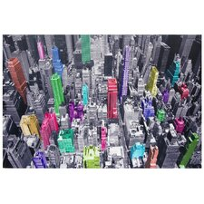 Colorful New York Graphic Art on Canvas