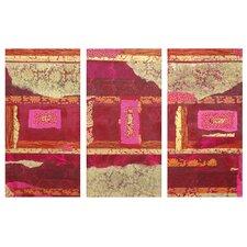 Avant-Garde 3 Piece Graphic Art on Wrapped Canvas Set