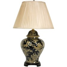 """Floral Bouquet Vase 28"""" H Table Lamp with Empire Shade"""