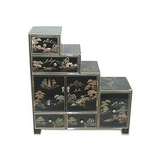 Chinese Step Tansu Cabinet