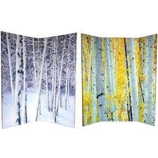 "70.88"" x 63"" Trees 4 Panel Room Divider"