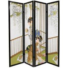 "72"" x 56"" Geisha Shoji 4 Panel Room Divider"