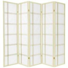 "70"" x 70"" Double Cross Shoji 5 Panel Room Divider"