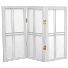 "26"" x 30"" Double Cross Shoji 3 Panel Room Divider"