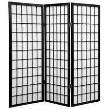 "48"" x 42"" Window Pane Shoji Screen 3 Panel Room Divider"