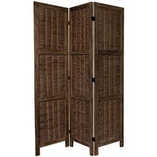 """67"""" x 42"""" Bamboo Tree Matchstick Woven 3 Panel Room Divider"""