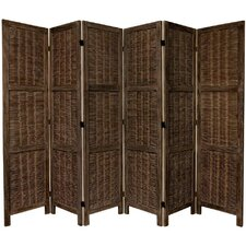 """67"""" x 85"""" Bamboo Tree Matchstick Woven 6 Panel Room Divider"""