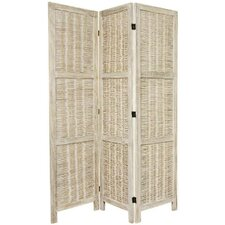"67"" Tall Bamboo Matchstick Woven 3 Panel Room Divider"