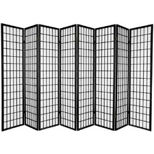 "69.5"" x 136"" Window Pane Shoji 8 Panel Room Divider"