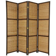"70.75"" Tall Woven Accent 4 Panel Room Divider"