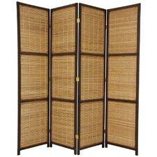 "70.75"" x 58"" Window Woven 4 Panel Room Divider"