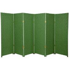 "48"" x 96"" Woven Fiber 6 Panel Room Divider"